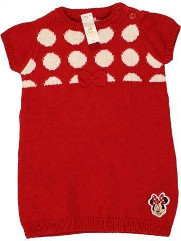 Robe fille DISNEY rouge 18 mois hiver #1464866_1