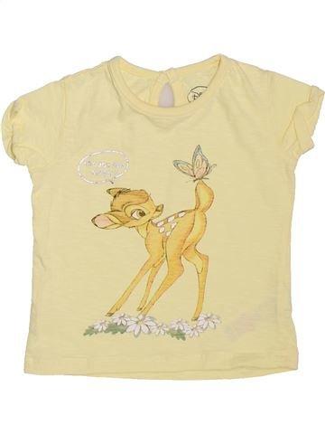T-shirt manches courtes fille DISNEY jaune 9 mois été #1465599_1