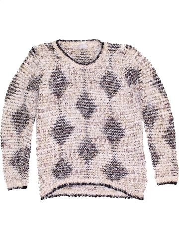 Pull fille I LOVE GIRLSWEAR blanc 13 ans hiver #1468279_1