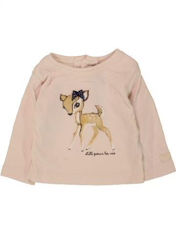 T-shirt manches longues fille LILI GAUFRETTE beige 3 mois hiver #1468657_1