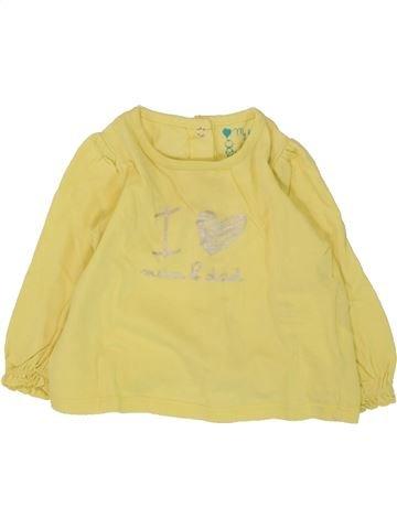 T-shirt manches longues fille TAPE À L'OEIL jaune 6 mois hiver #1469118_1