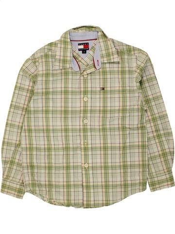 Chemise manches longues garçon TOMMY HILFIGER vert 6 ans hiver #1470124_1