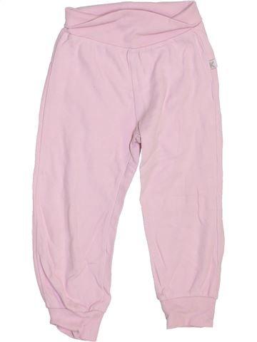 Pantalon fille KANZ rose 18 mois hiver #1470431_1