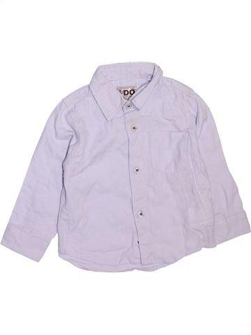 Chemise manches longues garçon IDO blanc 12 mois hiver #1472020_1