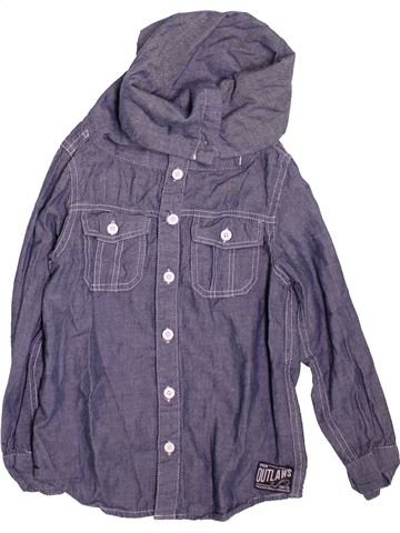 Chemise manches longues garçon URBAN 65 OUTLAWS bleu 7 ans hiver #1472512_1