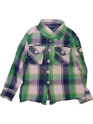 Camisa de manga larga niño HEMA verde 3 años invierno #1472715_1