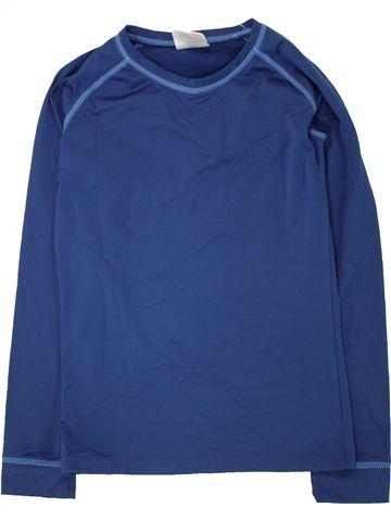 T-shirt manches longues garçon CRANE bleu 12 ans hiver #1472747_1