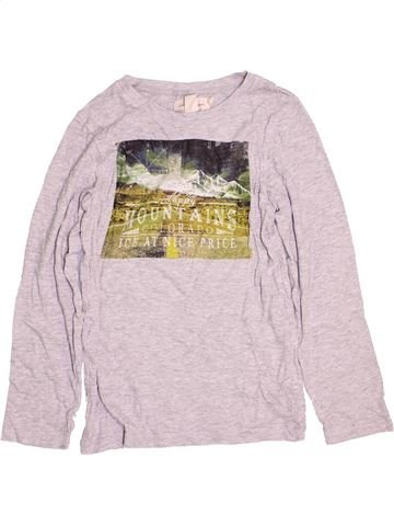 T-shirt manches longues garçon H&M gris 10 ans hiver #1472925_1