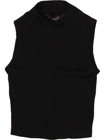 T-shirt col roulé fille NEW LOOK noir 11 ans hiver #1474372_1