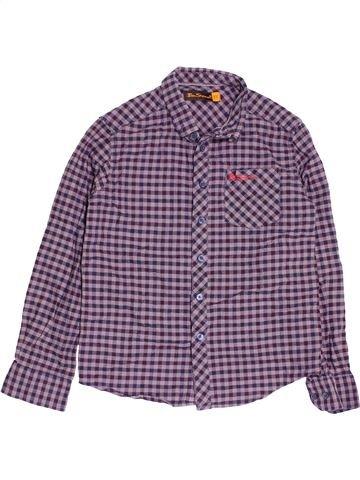 Chemise manches longues garçon BEN SHERMAN violet 9 ans hiver #1479293_1