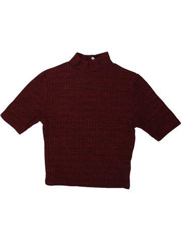 T-shirt col roulé fille NEW LOOK marron 11 ans hiver #1479753_1
