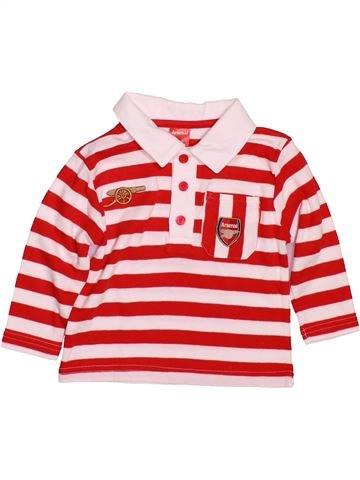 Polo manches longues garçon ARSENAL BABY rouge 12 mois hiver #1479907_1