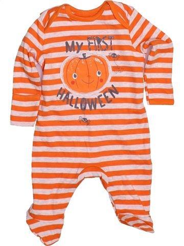 Pyjama 1 pièce unisexe GEORGE orange 1 mois été #1480311_1
