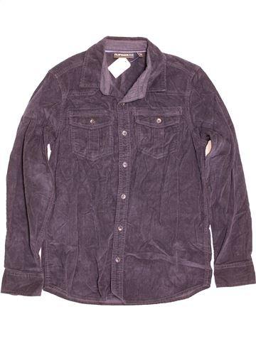 Chemise manches longues garçon FLIPBACK gris 14 ans hiver #1481291_1