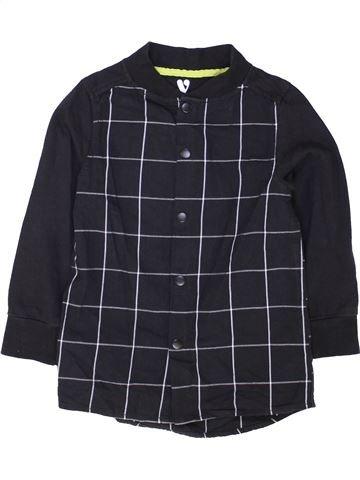 Chemise manches longues garçon V BY VERY noir 6 ans hiver #1481566_1