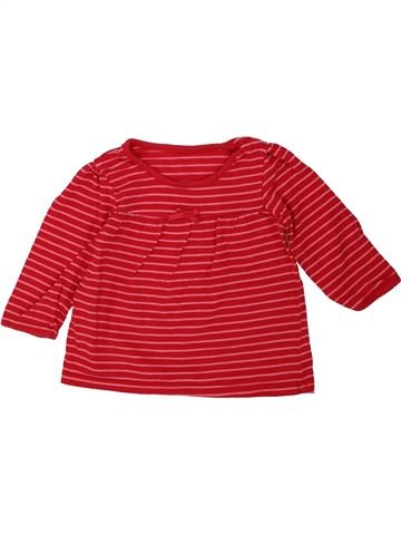 T-shirt manches longues fille GEORGE rouge 6 mois hiver #1482251_1