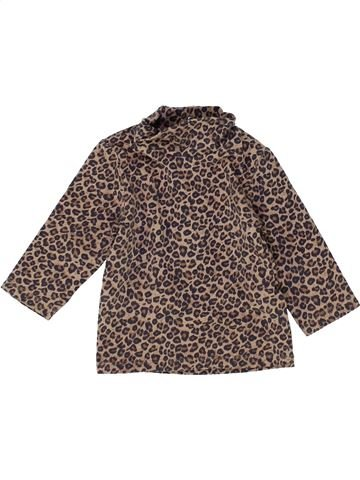 T-shirt col roulé fille KIABI marron 6 mois hiver #1483561_1