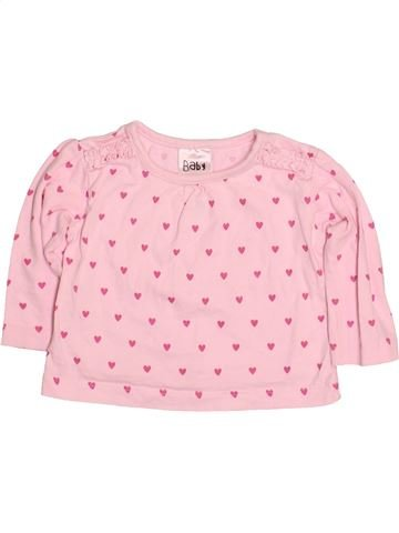 T-shirt manches longues fille PEACOCK'S rose 6 mois hiver #1483574_1