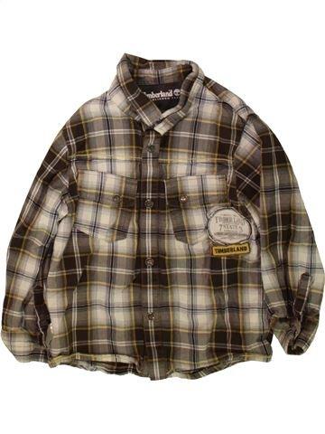 Chemise manches longues garçon TIMBERLAND marron 4 ans hiver #1484460_1