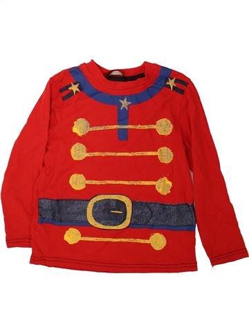 T-shirt manches longues garçon GEORGE rouge 6 ans hiver #1485206_1