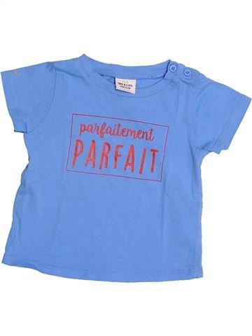T-shirt manches courtes garçon TAPE À L'OEIL bleu 12 mois été #1485239_1