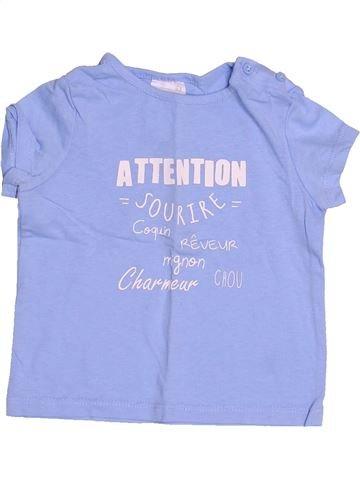 T-shirt manches courtes garçon KIABI violet 12 mois été #1485242_1