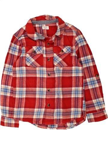 Chemise manches longues garçon F&F rouge 7 ans hiver #1485558_1