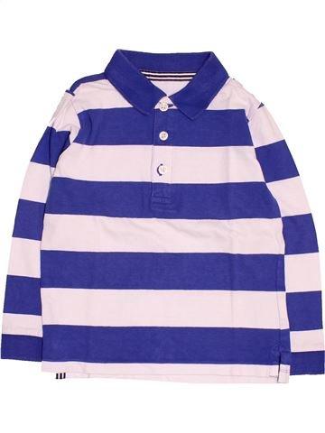 Polo manches longues garçon MONOPRIX blanc 6 ans hiver #1485744_1