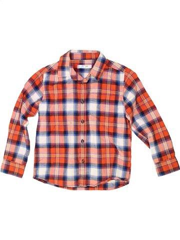 Chemise manches longues garçon M&CO rose 7 ans hiver #1485874_1