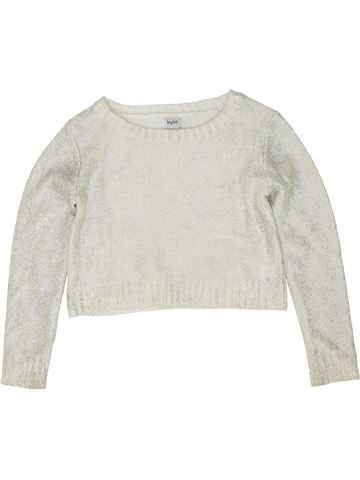 Pull fille KYLIE blanc 10 ans hiver #1486161_1
