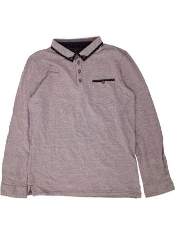Polo manches longues garçon BOYS gris 13 ans hiver #1486713_1