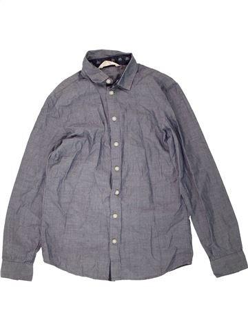 Chemise manches longues garçon H&M gris 13 ans hiver #1487149_1