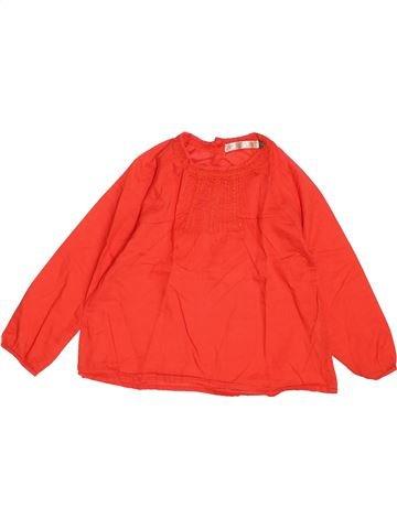 Blouse manches courtes fille CFK orange 4 ans hiver #1487715_1