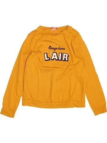 T-shirt manches longues fille TAPE À L'OEIL orange 8 ans hiver #1487762_1