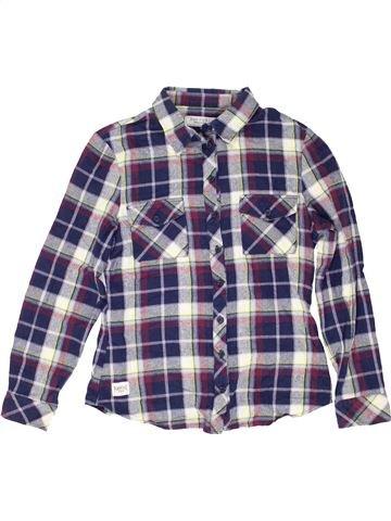 Chemise manches longues garçon NEW LOOK violet 13 ans hiver #1487886_1