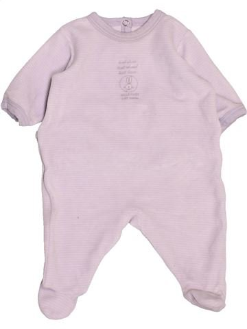 Pyjama 1 pièce garçon PETIT BATEAU blanc 1 mois hiver #1488047_1