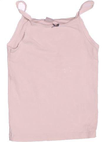 T-shirt sans manches fille PETIT BATEAU blanc 3 ans été #1488116_1
