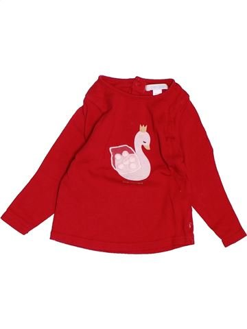 T-shirt manches longues fille OKAIDI rouge 12 mois hiver #1488140_1