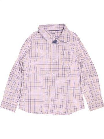 Chemise manches longues garçon OKAIDI blanc 4 ans hiver #1488333_1
