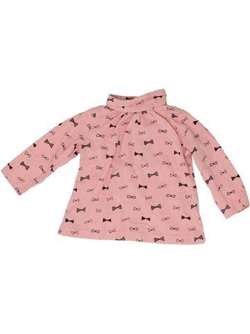 T-shirt col roulé fille LA REDOUTE CRÉATION rose 9 mois hiver #1488365_1