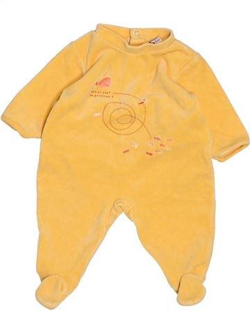 Pyjama 1 pièce fille ABSORBA orange 3 mois hiver #1488372_1