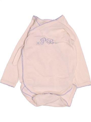 T-shirt manches longues garçon PETIT BATEAU rose 3 mois hiver #1488451_1