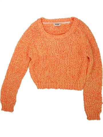Pull fille TAMMY orange 13 ans hiver #1488465_1