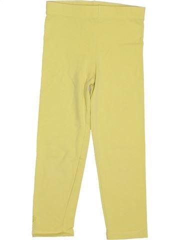 Legging fille OKAIDI jaune 5 ans hiver #1488864_1