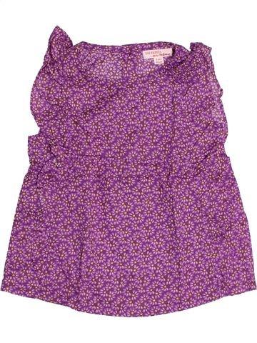 Blouse manches courtes fille DPAM violet 3 ans été #1489037_1