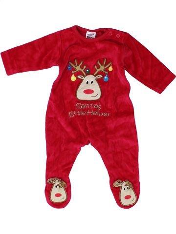 Pyjama 2 pièces garçon CHRISTMAS BABY rouge 3 mois hiver #1489055_1