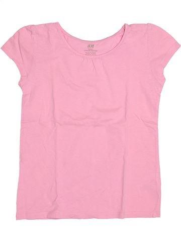 T-shirt manches courtes fille H&M rose 10 ans été #1489332_1