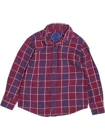Chemise manches longues garçon BLUEZOO violet 6 ans hiver #1489624_1