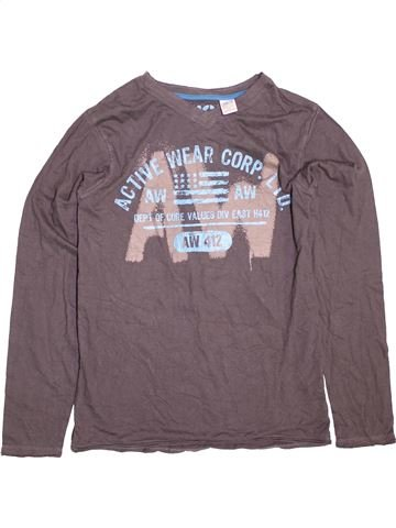 Camiseta de manga larga niño LA REDOUTE CRÉATION gris 16 años invierno #1489940_1