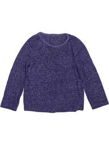 T-shirt manches longues fille GEORGE bleu 4 ans hiver #1489998_1
